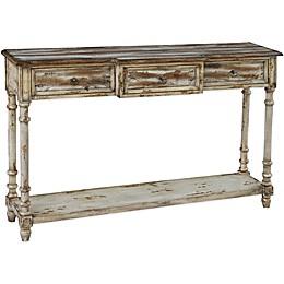 Pulaski Juliet 3-Drawer Console Table in Ivory Juliet