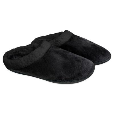 Women S Memory Foam Sherpa Lined Slippers Bed Bath Amp Beyond