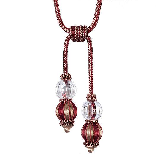 Alternate image 1 for Double Glass Ball Tassel Tie Back