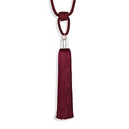 Single Glass Pearl Grey Tassel Tie Back
