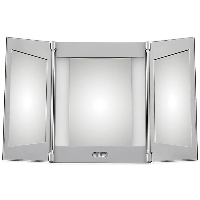 Conair Tri Fold Led 1x 5x Mirror Bed