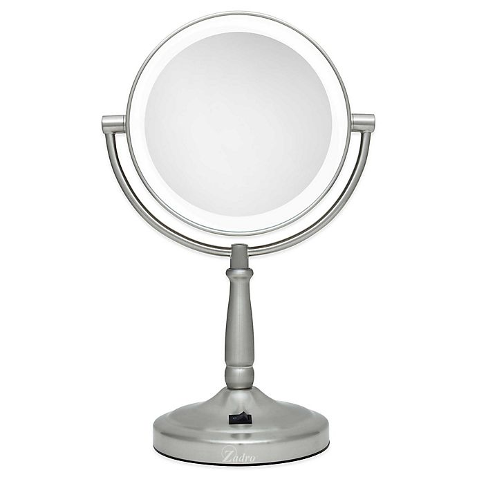 Zadro® 10x/1x Cordless LED Lighted Vanity Mirror | Bed Bath & Beyond