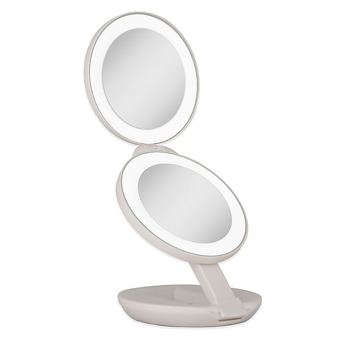 Zadro 174 1x 10x Led Lighted Travel Mirror Bed Bath Amp Beyond