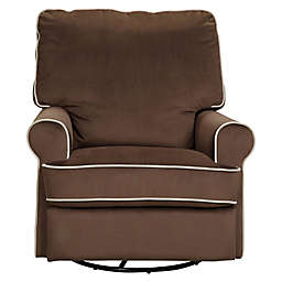 Pulaski Comfort Chair in Stella Coffee with Doe Piping