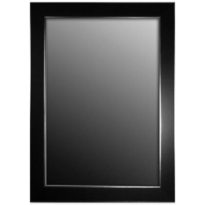 Hitchcock butterfield decorative wall mirror in black - Decorative trim for bathroom mirrors ...