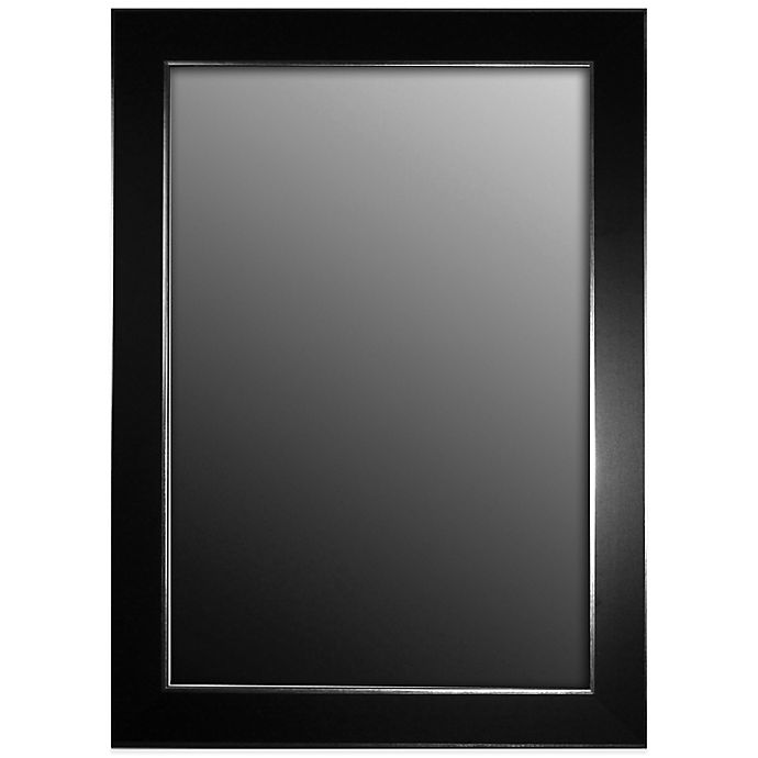 Alternate image 1 for Hitchcock-Butterfield 27-Inch x 37-Inch Wall Mirror in Black Forest with Silver Edged Trim