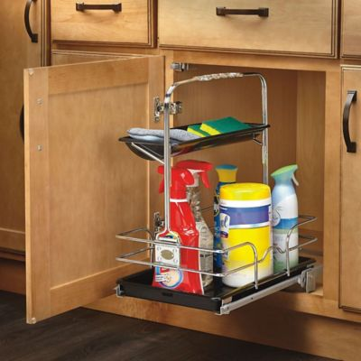 rev a shelf 544 10c 1 under sink pull out removable chrome caddy bed bath beyond. Black Bedroom Furniture Sets. Home Design Ideas