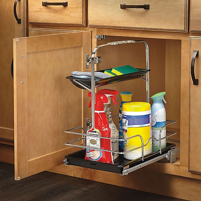 Under Sink Shelf Shelves That Slide Cabinet Pull Out: Under Sink Pull-Out Removable