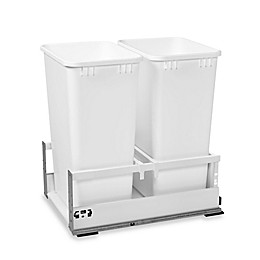 Rev-A-Shelf® 15-Inch Tandem Double Pull-Out Waste Container in White