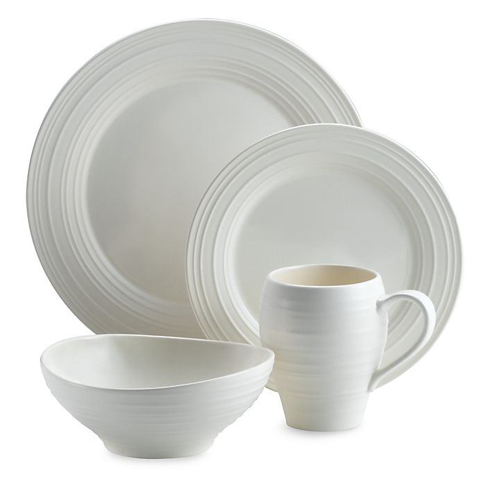 Alternate image 1 for Mikasa® Swirl 4-Piece Place Setting in White