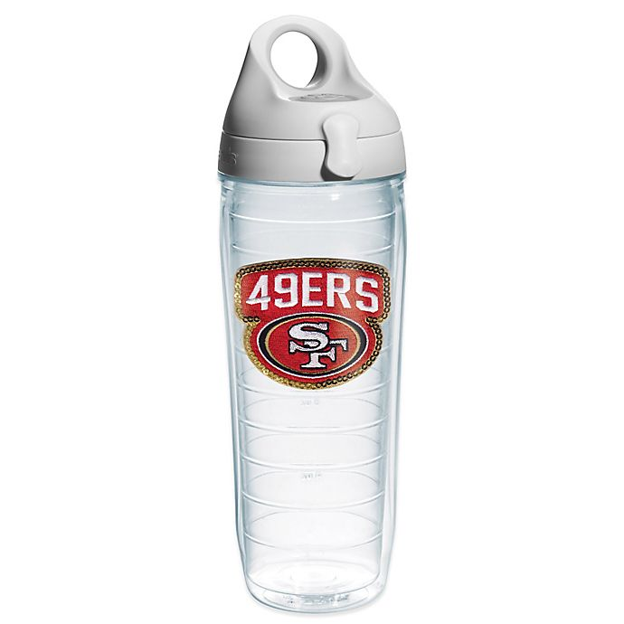 Alternate image 1 for Tervis® NFL San Francisco 49ers Sequin 24 oz. Water Bottle with Lid