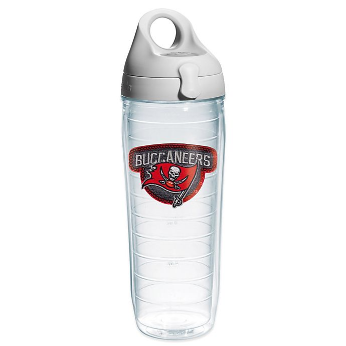 Alternate image 1 for Tervis® NFL Tampa Bay Buccaneers Sequin 24 oz. Water Bottle with Lid