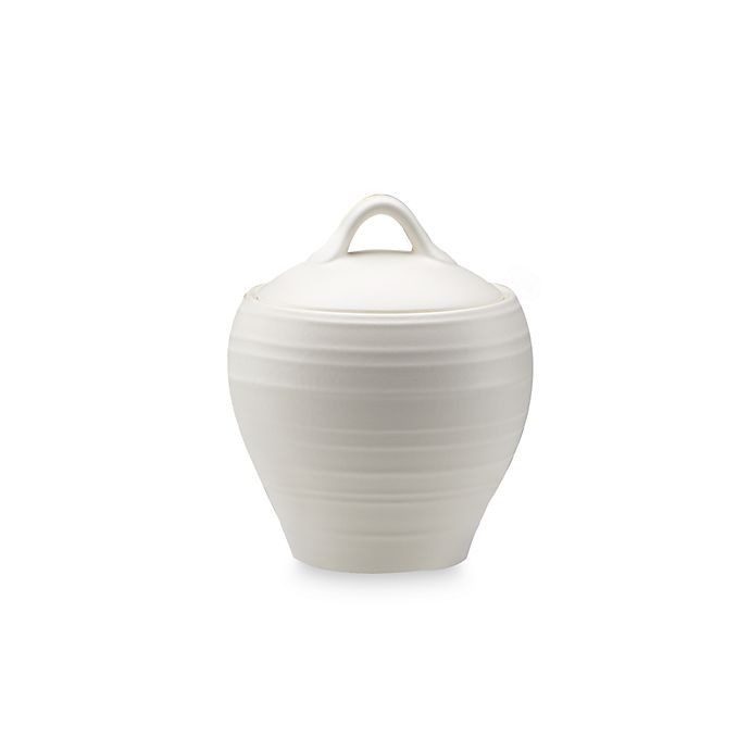 Alternate image 1 for Mikasa® Swirl Covered Sugar Bowl in White