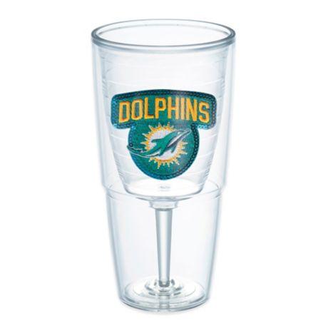 Tervis 174 Nfl Miami Dolphins Sequin 16 Oz Goblet Bed Bath