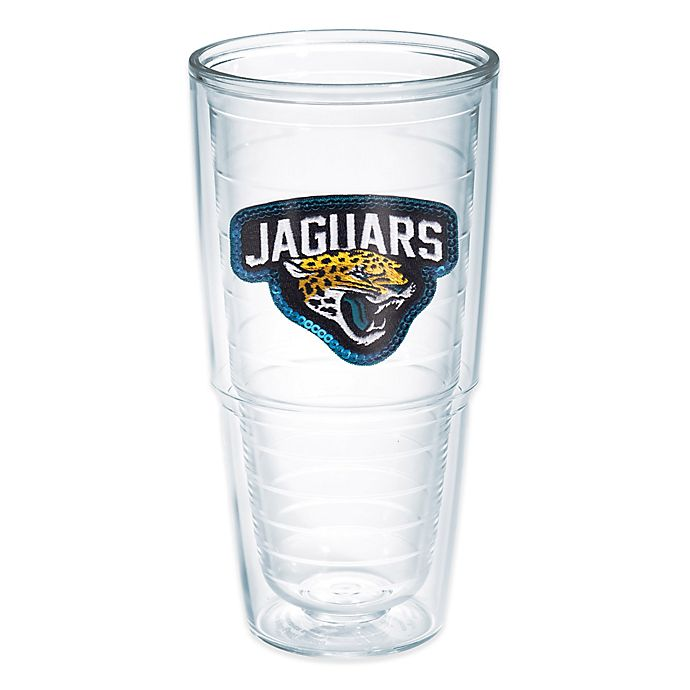 Alternate image 1 for Tervis® NFL Jacksonville Jaguars Sequin 24 oz. Tumbler