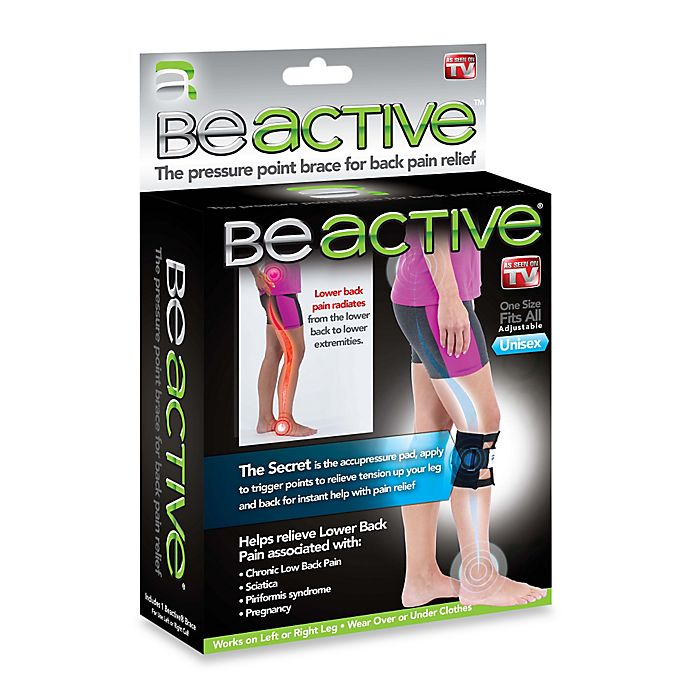 Alternate image 1 for BeActive® Pressure Point Knee Brace for Back Pain Relief