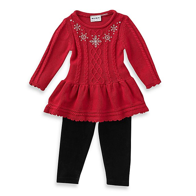 0aabc136f Blueberi Boulevard 2-Piece Simply Snowflake Sweater Dress and ...