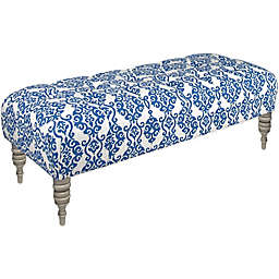 Skyline Furniture Tufted Bench in Luminary Indigo
