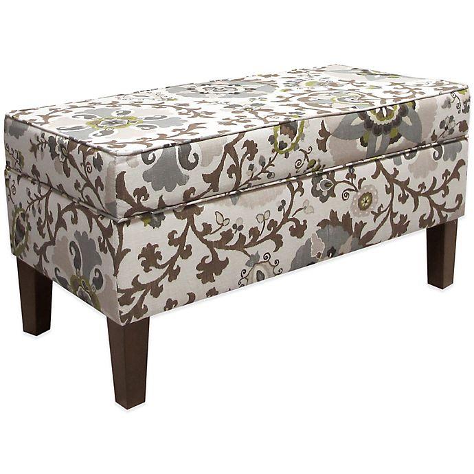 Skyline Furniture Trendy Storage Bench In Silisla
