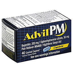 Advil® PM Pain Reliever/Nighttime Sleep-Aid 40-Count Coated Caplets