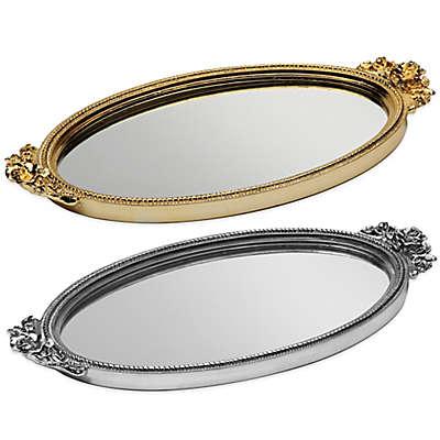 Taymor Antique Rose Resin Mirror Vanity Tray