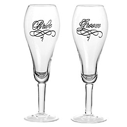 Lillian Rose™ Bride and Groom Toasting Flutes