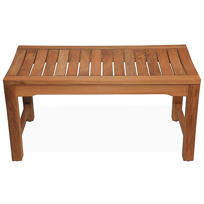 Miraculous 36 Inch Backless Rosemont Teak Shower Bench Bed Bath Beyond Uwap Interior Chair Design Uwaporg