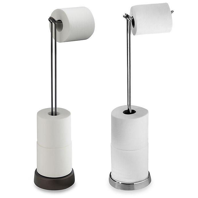 Alternate image 1 for InterDesign® Classico Toilet Paper Stand Plus