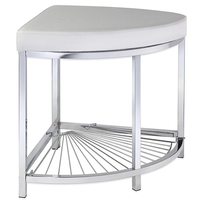 Alternate image 1 for Taymor® Urban Modern Corner Vanity Stool in Chrome