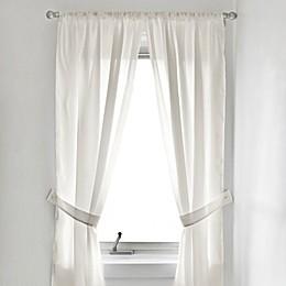 Fabric Bath Window Curtain Panel Pair