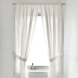Fabric Bath Light Filtering Window Curtain Panel Pair
