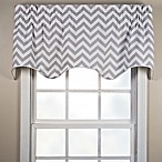 Reston Scalloped Window Valance in Sterling