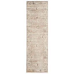 Safavieh Vintage Collection Mercedes 2-Foot 3-Inch x 7-Foot Floral Runner