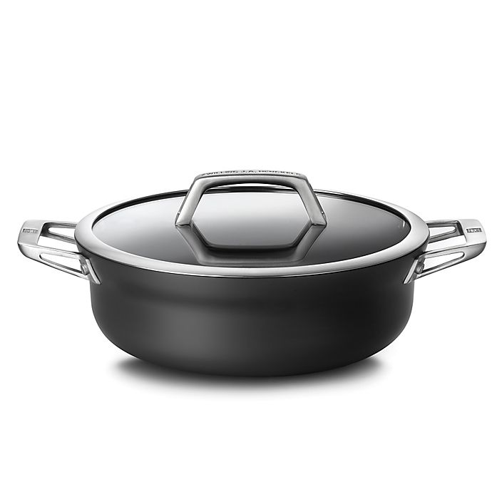 Alternate image 1 for Zwilling® J.A. Henckels Motion Nonstick 4 qt. Hard-Anodized Covered Chef Pan in Grey