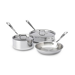 All-Clad® 3-Ply Stainless Steel 5-Piece Cookware Set
