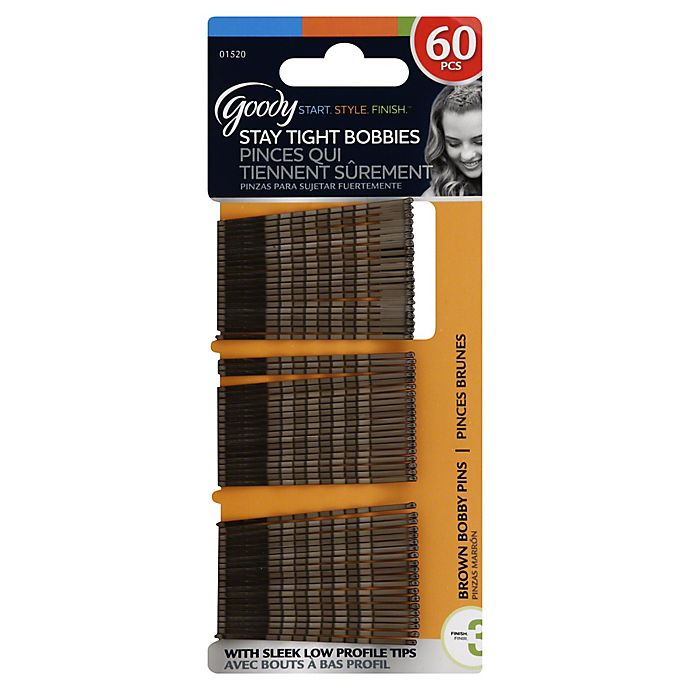 Alternate image 1 for Goody® 60-Count Bobby Pins in Brown