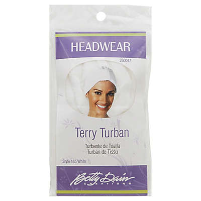 Betty Dain Terry Turban in White