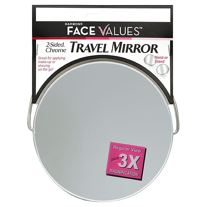 Harmon Face Values 2 Sided 3x Travel Shave Mirror Bed