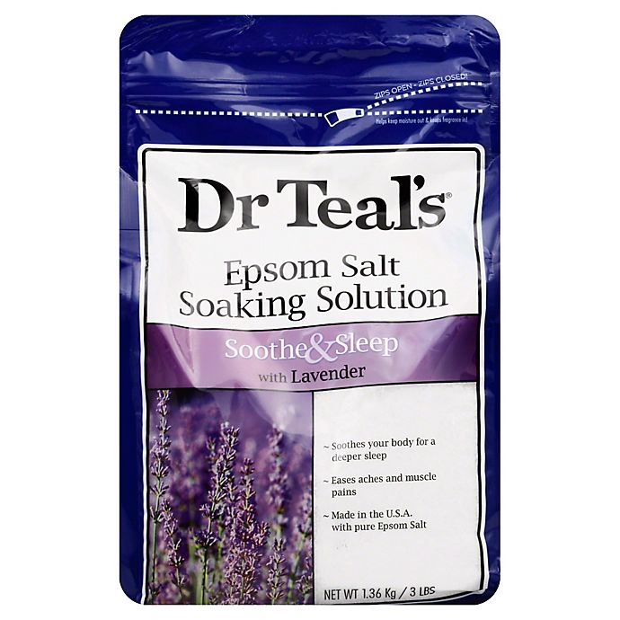 Alternate image 1 for Dr. Teal's Therapeutic Solutions 48 oz. Epsom Salt Sleep Soaking Solution in Lavender