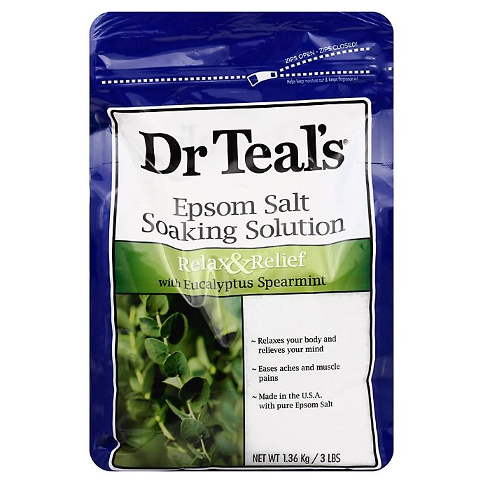 Alternate image 1 for Dr. Teal's Therapeutic Solutions 48 oz. Epsom Salt Relax Soaking Solution in Eucalyptus Spearmint