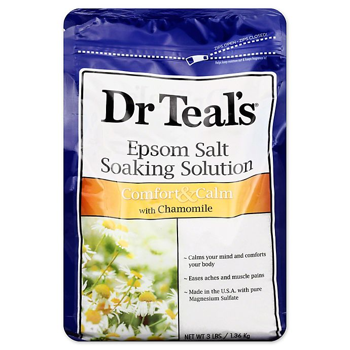 Alternate image 1 for Dr. Teal's Therapeutic Solutions 48 oz. Epsom Salt Calm Soaking Solution in Chamomile