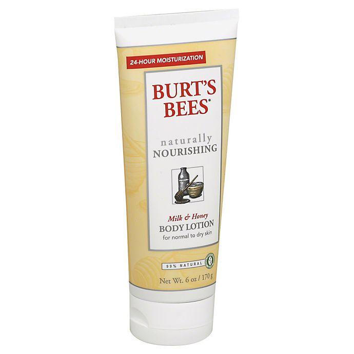 Alternate image 1 for Burt's Bees® 6 oz. Milk & Honey Body Lotion