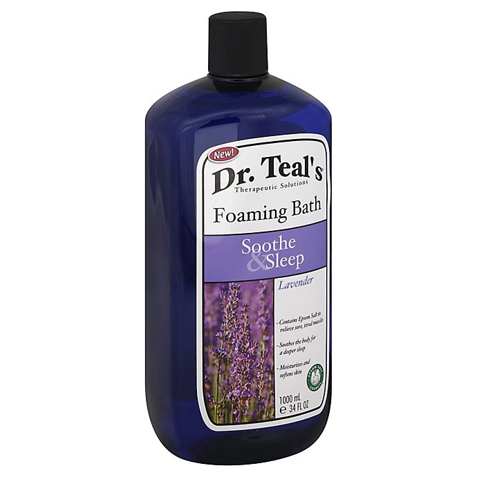 Alternate image 1 for Dr. Teal's Therapeutic Solutions 34 oz. Soothe & Sleep Foaming Bath in Lavender