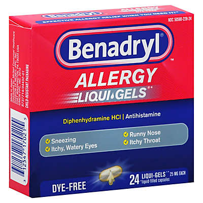 Benadryl® Dye-Free 24-Count Allergy Softgels