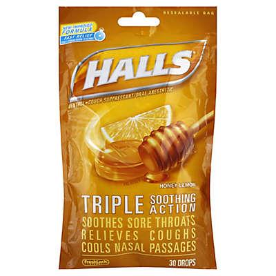 Halls® 30-Count Mentholyptus Cough Drops in Honey Lemon