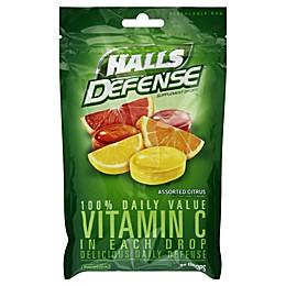 Halls Defense® 30-Count Vitamin C Cough Drops in Citrus