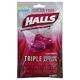 Halls® 25-Count Sugar-Free Cough Drops in Black Cherry