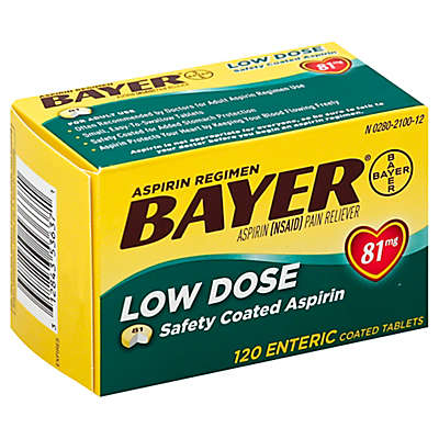 Bayer® Low Dose 120-Count 81 mg Enteric Aspirin Tablets