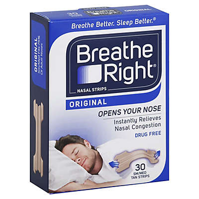 Breathe Right Original 30-Count Size Small/Medium Nasal Strips in Tan
