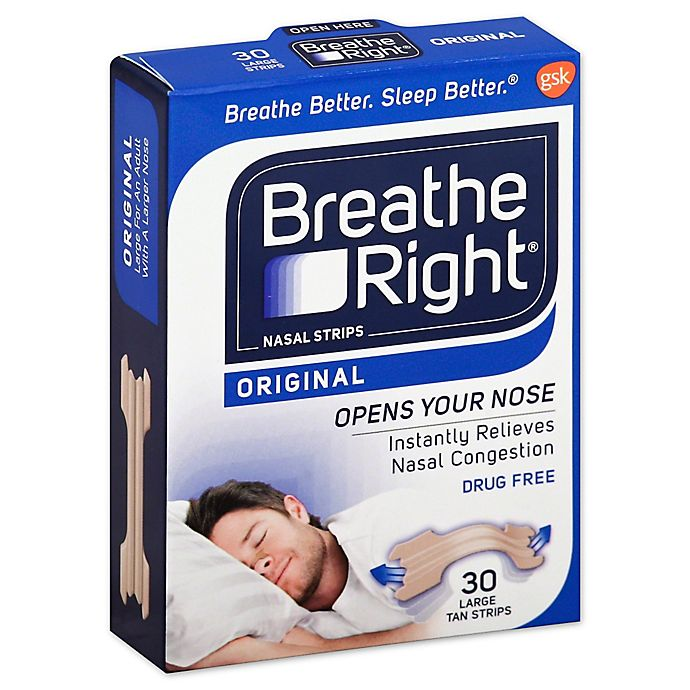 Alternate image 1 for Breathe Right 30-Count Original Tan Nasal Strips Medium/Large